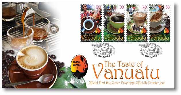 Vanuatu Post Tanna Coffee cover