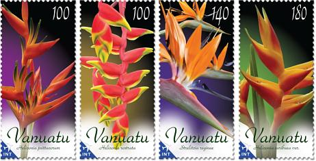 Vanuatu Post Colours in blooms Stamps