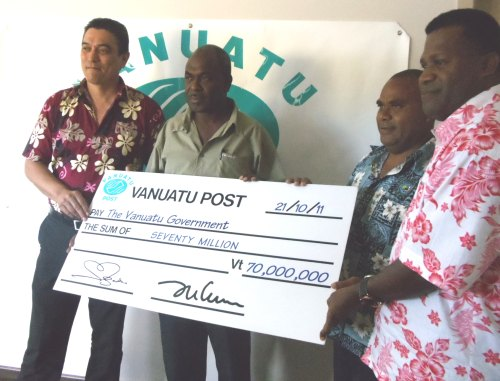 2010 dividend Record for Vanuatu Post
