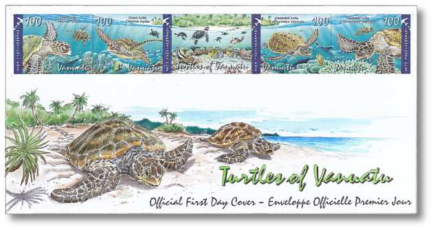 Vanuatu Post Turtles Stamp Cover