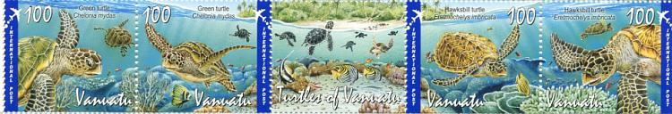 Vanuatu Post Turtles Stamps